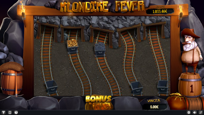 Slot machine Klondike Fever - Bonus miniera