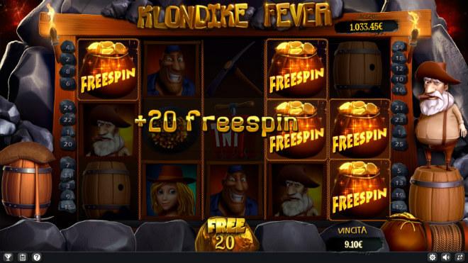 Slot machine Klondike Fever - Free Spin