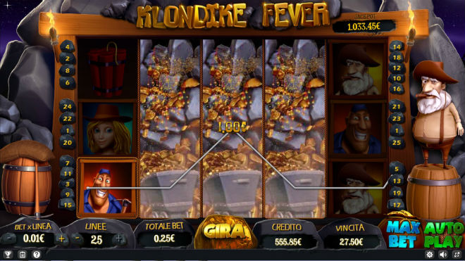 Slot machine Klondike Fever - WILD espanso