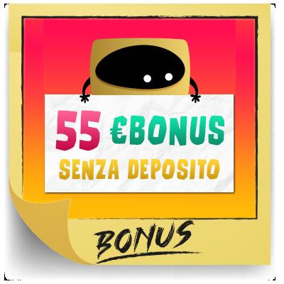 bonus benvenuto 55€ gratis registrati