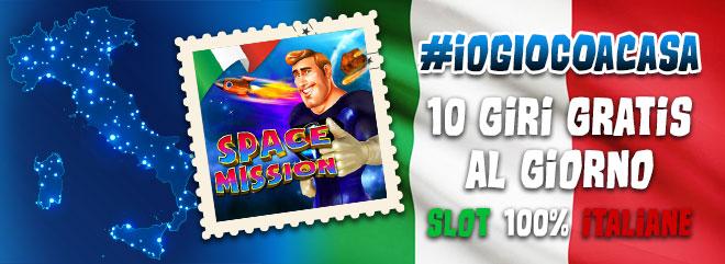 #ioGIOCOacasa 10 giri gratis slot machine online SPACE MISSION su BIG Casinò