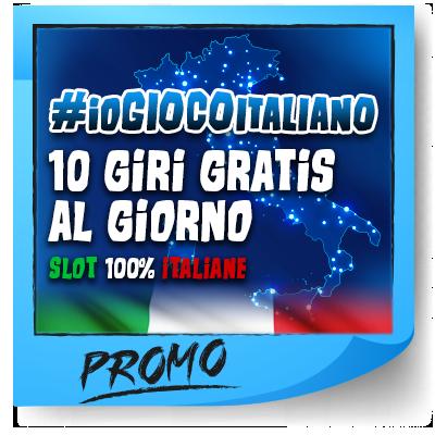ioGIOCOitaliano 10 freespin ogni giorno slot italiane