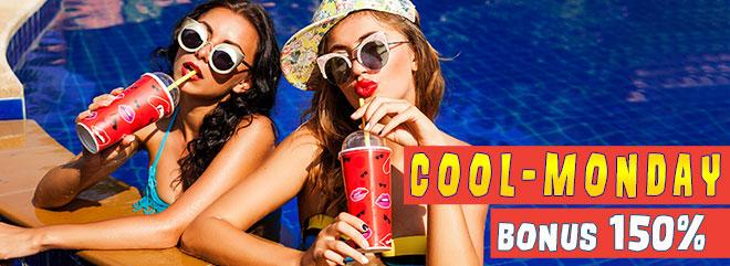 BIGcasinò COOL Monday promozione 150% fino a 300 euro bonus ricarica