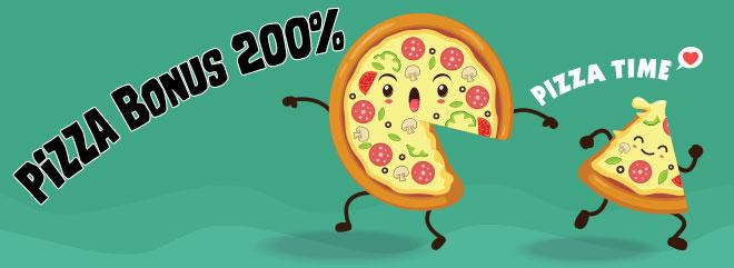 bigcasino Pizza Bonus 200% fino 400 euro bonus slot italiane