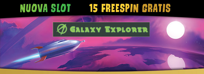 15 FreeSpin nuova slot machines online Galaxy Explorer