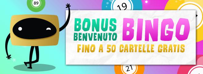 BIG Bonus Bingo 50 cartelle gratis