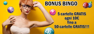 50 cartelle Bingo Gratis