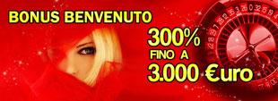 Bonus Ricarica 300% fino 3.000€