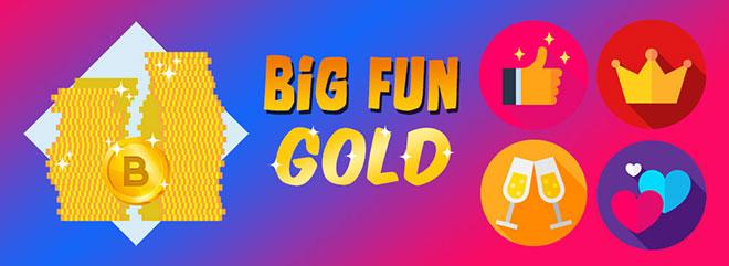 BIG FUN Gold - 40.000 B-Coin GOLD gratis per Status Popolare - Amico di tutti - Amato dalle folle e Re della Festa