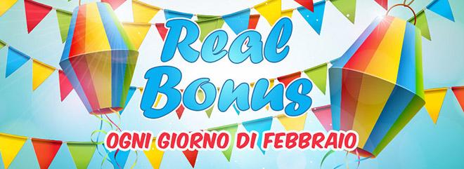 REAL Bonus ogni giorno a febbraio BIGcasino